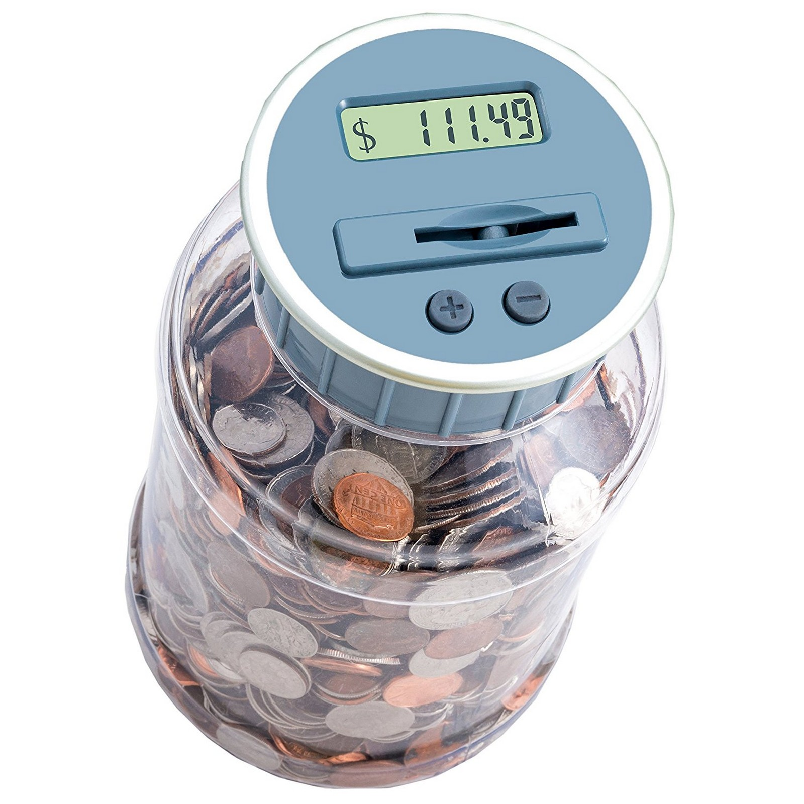 15 New Inventions - Digital counting coin bank.